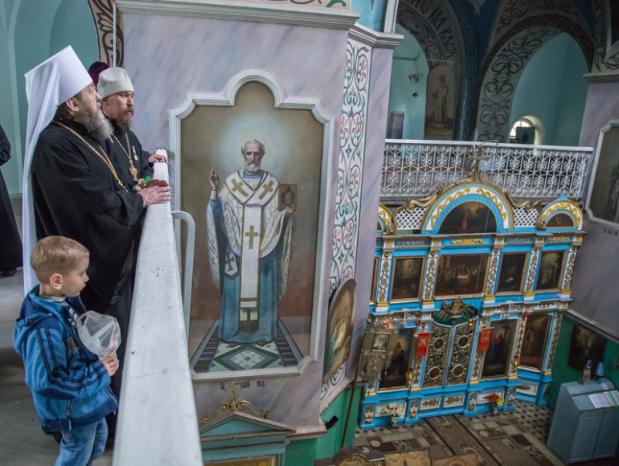 Правящий архиерей совершил Литургию в храме Архангела Михаила с. Сям-Можга